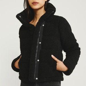Abercrombie mini Sherpa fleece parka jacket
